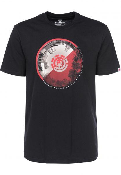 Element T-Shirts Ambit flintblack Vorderansicht