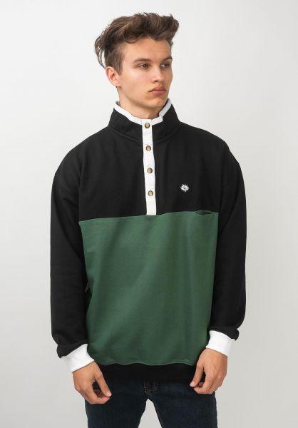 Magenta Sweatshirts und Pullover Alpin Crew Tricolor darknavy-forrestgreen-white vorderansicht 0422727