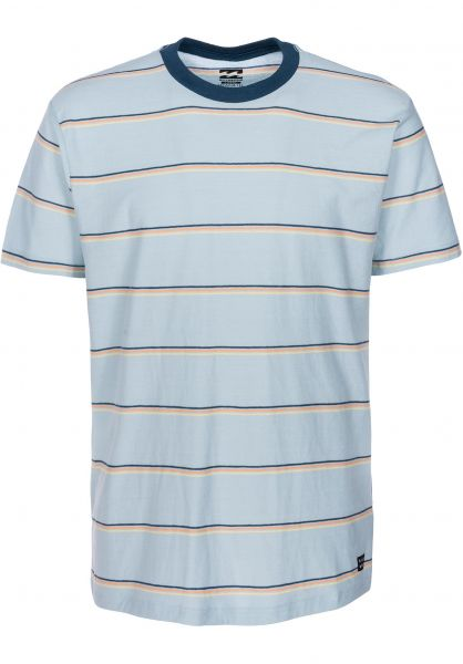 Billabong T-Shirts Die Cut Stripe dustyblue vorderansicht 0397657