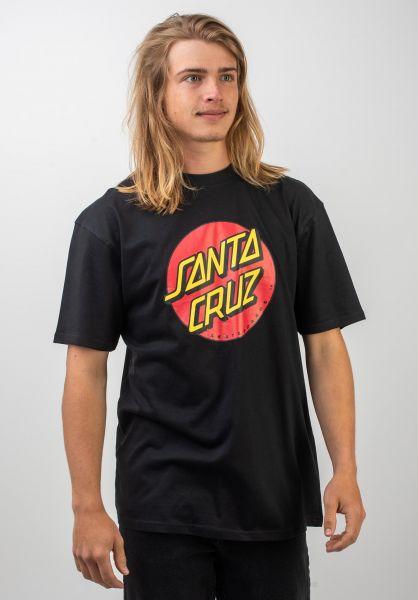 Santa-Cruz T-Shirts Classic Dot black vorderansicht 0036057