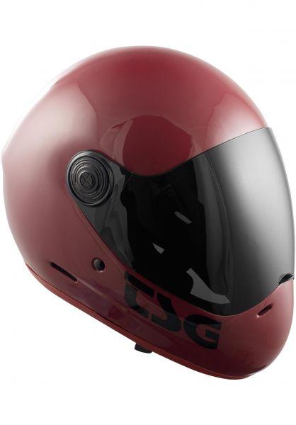 TSG Fullface-Helme Pass Solid Color gloss oxblood vorderansicht 0750086