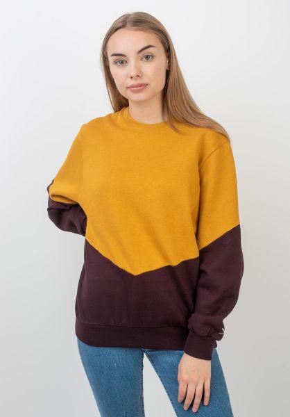 iriedaily Sweatshirts und Pullover Luv gold-aubergine vorderansicht 0422520