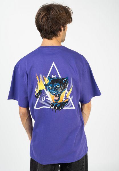 HUF T-Shirts Jungle Cat TT grape vorderansicht 0322597