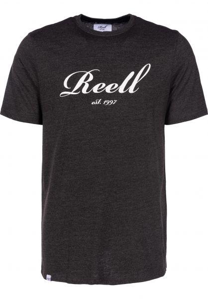 Reell T-Shirts Big Script darkgreymelange Vorderansicht