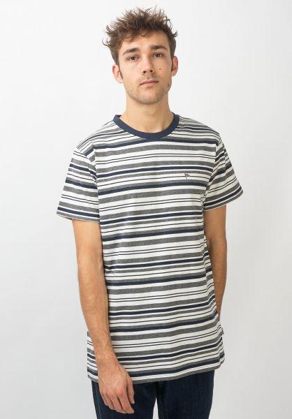 Wemoto T-Shirts Warren greymelange-offwhite vorderansicht 0320335