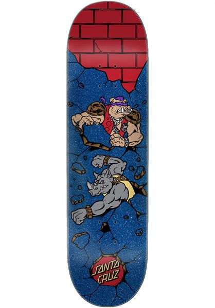 Santa-Cruz Skateboard Decks TMNT Bebop and Rocksteady blue-red vorderansicht 0261433