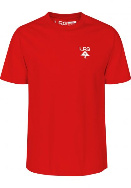 LRG T-Shirts Logo Plus red Vorderansicht