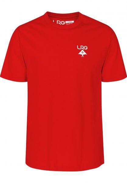 LRG T-Shirts Logo Plus red Vorderansicht