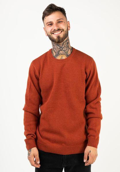 Carhartt WIP Strickpullover Allen Sweater cinnamon vorderansicht 0144025