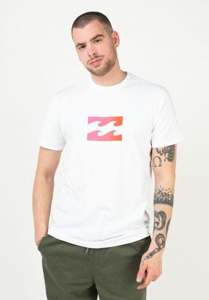 Billabong T-Shirts Team Wave white-pink vorderansicht 0396260