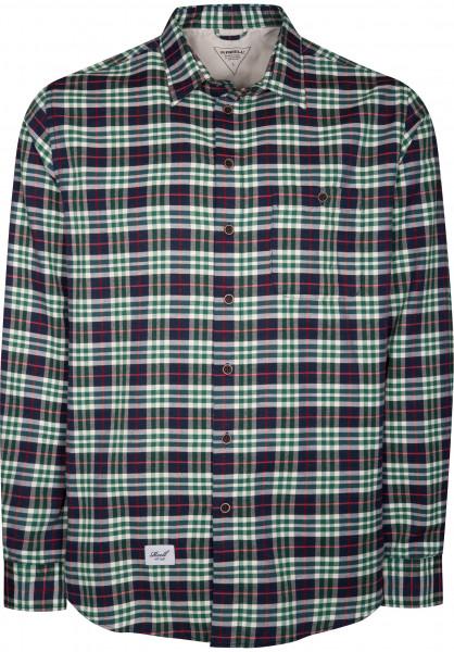 Reell Hemden langarm Check green Vorderansicht