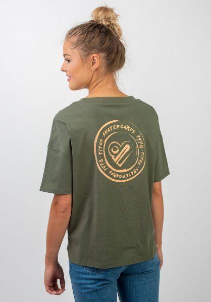 TITUS T-Shirts Jules Backprint olive vorderansicht 0399312