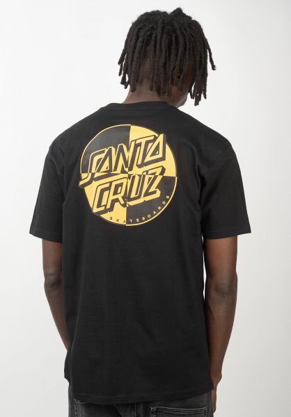 Santa-Cruz T-Shirts Crash Dot black vorderansicht 0320430