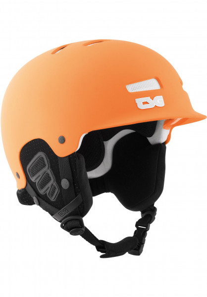 TSG Snowboardhelme Trophy Solid Color flat-neon-orange Vorderansicht