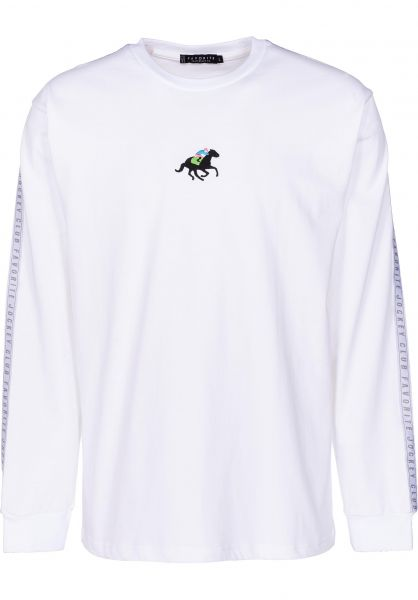 Favorite Longsleeves Jockey Club white vorderansicht 0383084
