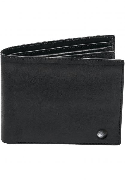 Reell Portemonnaie Button Leather Wallet black Vorderansicht 0780818