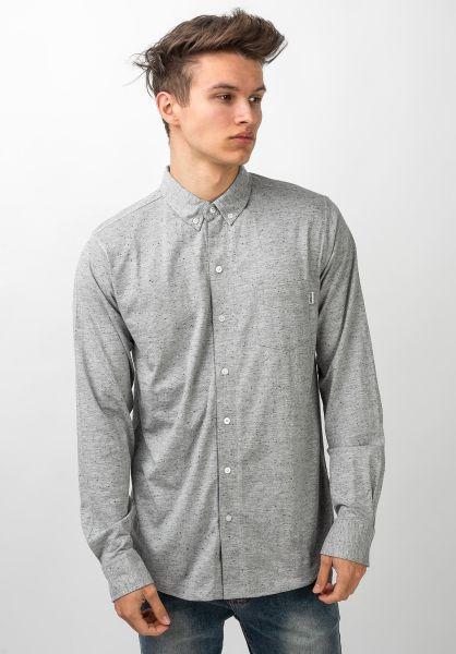 Wemoto Hemden langarm Shaw Nep heather vorderansicht 0411929