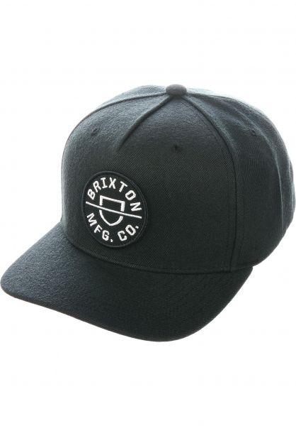 Brixton Caps Crest C black vorderansicht 0566917