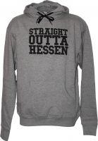 GUDE Hoodies Straight Outta Hessen grey Vorderansicht