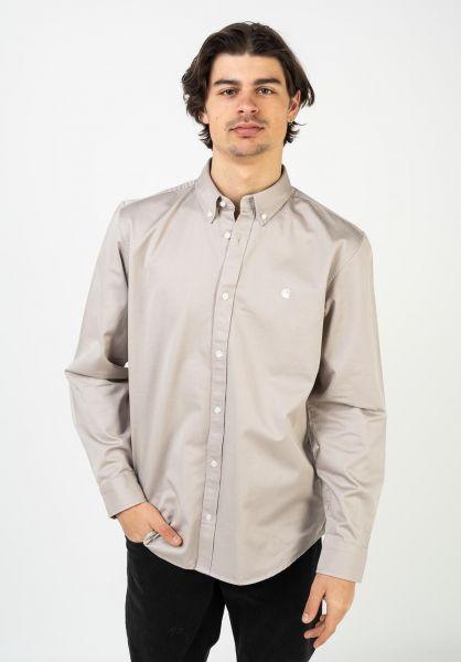 Carhartt WIP Hemden langarm Madison glaze-wax vorderansicht 0411884