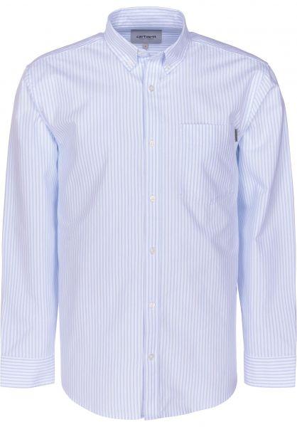 Carhartt WIP Hemden langarm Karev karevstripe-bleach vorderansicht 0411885