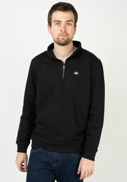 Dickies Sweatshirts und Pullover Oakport Quarter Zip black vorderansicht 0423102