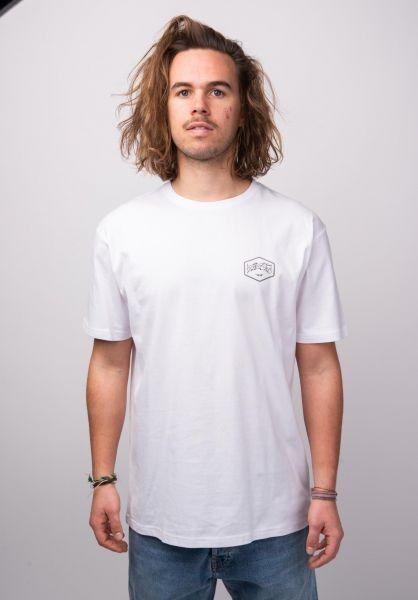 TITUS T-Shirts Hexagon white vorderansicht 0392514