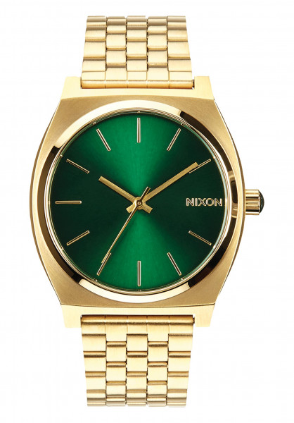 Nixon Uhren The Time Teller gold-green-sunray Vorderansicht