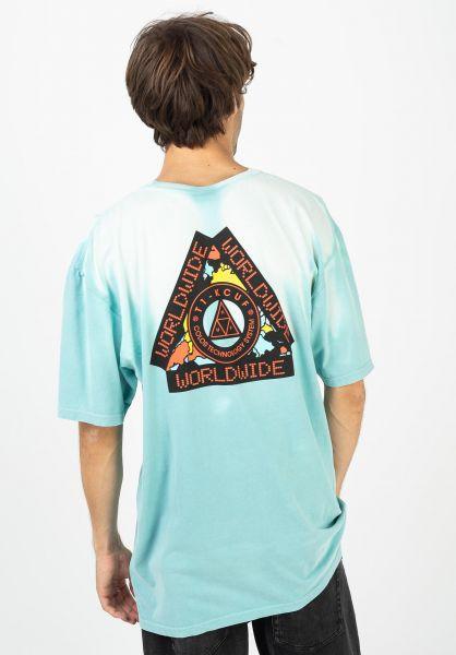 HUF T-Shirts Colortech TT mint vorderansicht 0322590