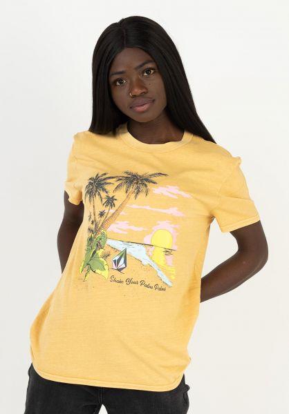 Volcom T-Shirts Lock It Up dustgold vorderansicht 0322253