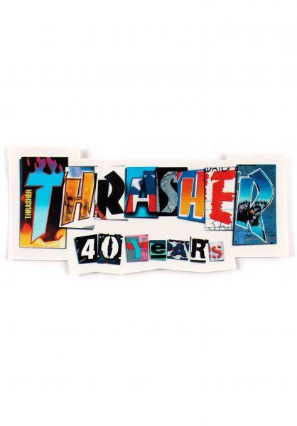 Thrasher Verschiedenes 40 Years Die Cut Sticker multicolored vorderansicht 0972814