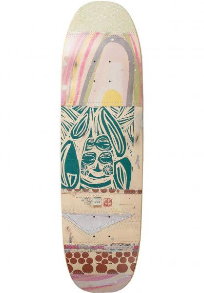 UMA Landsleds Skateboard Decks Fark Shaped grey vorderansicht 0266198
