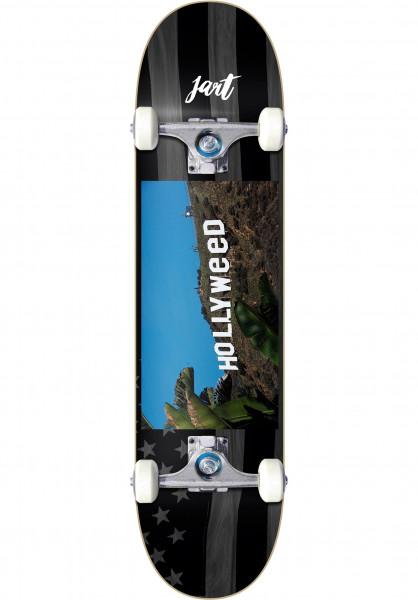 JART Skateboard komplett Hollyweed black Vorderansicht