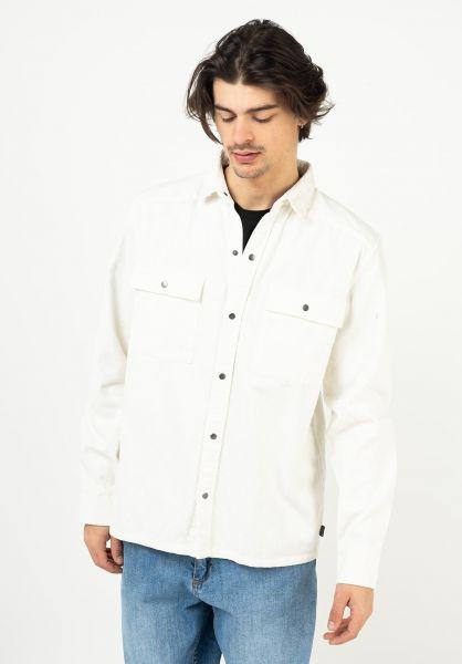 Rules Hemden langarm Vince Cord offwhite vorderansicht 0144116