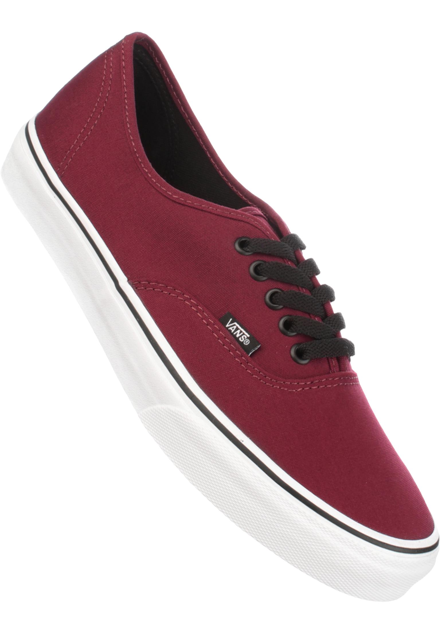 7c1a22d52700fc Authentic Vans All Shoes in burgundy-white for Men