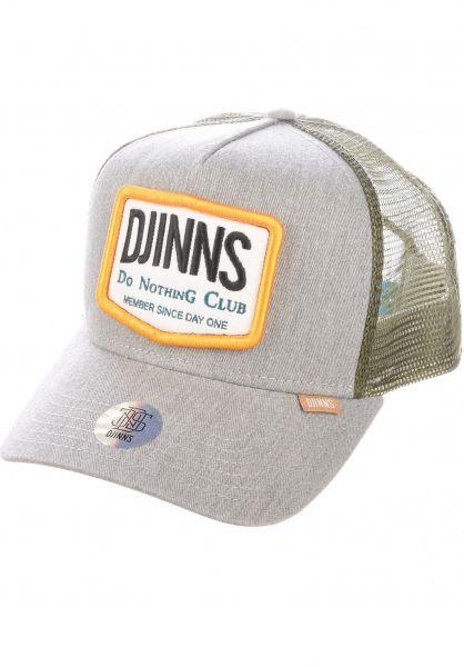 Djinns Caps HFT Cap Nothing Club #2 HeatDye heathergrey vorderansicht 0566866