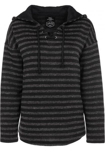 TITUS Hoodies Manou grey-striped Vorderansicht