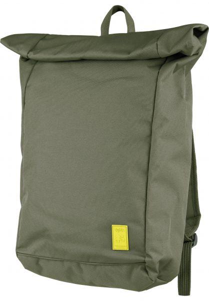 Lefrik Rucksäcke Roll Backpack olive vorderansicht 0880955