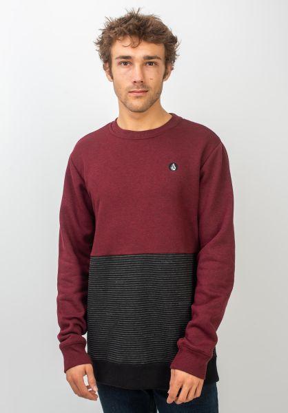 Volcom Sweatshirts und Pullover Forzee cabernet vorderansicht 0422755