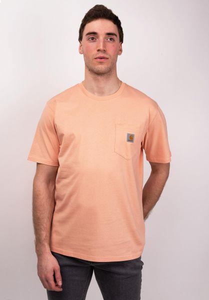 Carhartt WIP T-Shirts Pocket peach vorderansicht 0393365