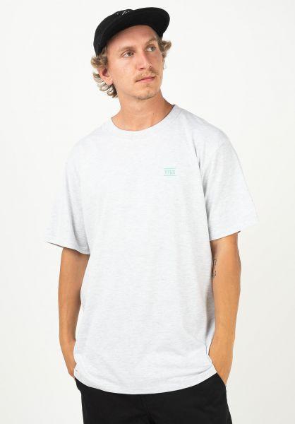 TITUS T-Shirts Chest Emblem lightheathergrey vorderansicht 0398357