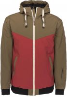 Light Winterjacken Brighton olive-burgundy Vorderansicht