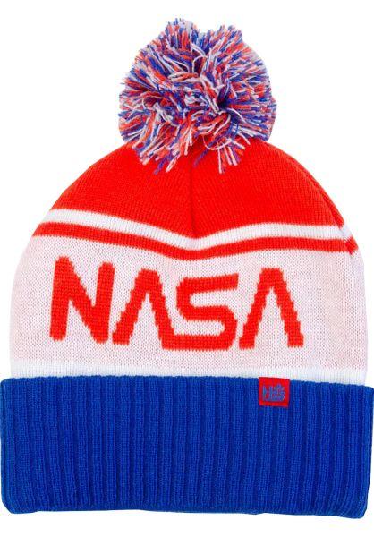 Habitat Mützen x NASA Pom red-white-blue vorderansicht 0572457