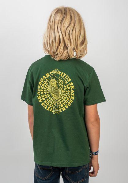 TITUS T-Shirts Naim Kids greenheather vorderansicht 0399263