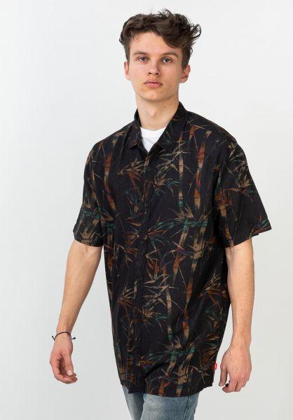Globe Hemden kurzarm Tied And Died black vorderansicht 0400929
