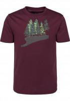 Rules T-Shirts Fir Forest darkburgundy Vorderansicht