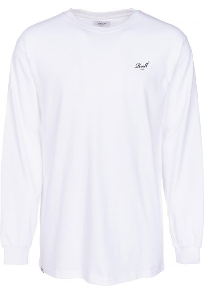 Reell Longsleeves Small Script white Vorderansicht