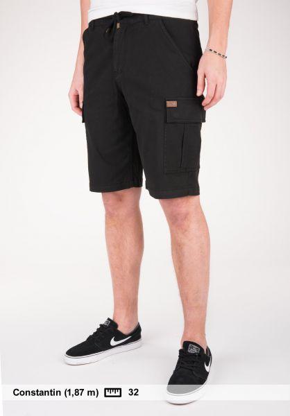 TITUS Shorts Twill Cargo black Vorderansicht