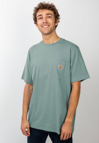Carhartt WIP T-Shirts Pocket cloudy vorderansicht 0393365
