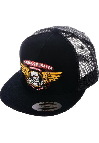 8683d73d09d Powell-Peralta Caps Winged Ripper Trucker black vorderansicht 0566149